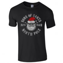 Sons of Santa Moto Club North Pole T-Shirt - Motorcycle SOA Biker Mens Gift Top